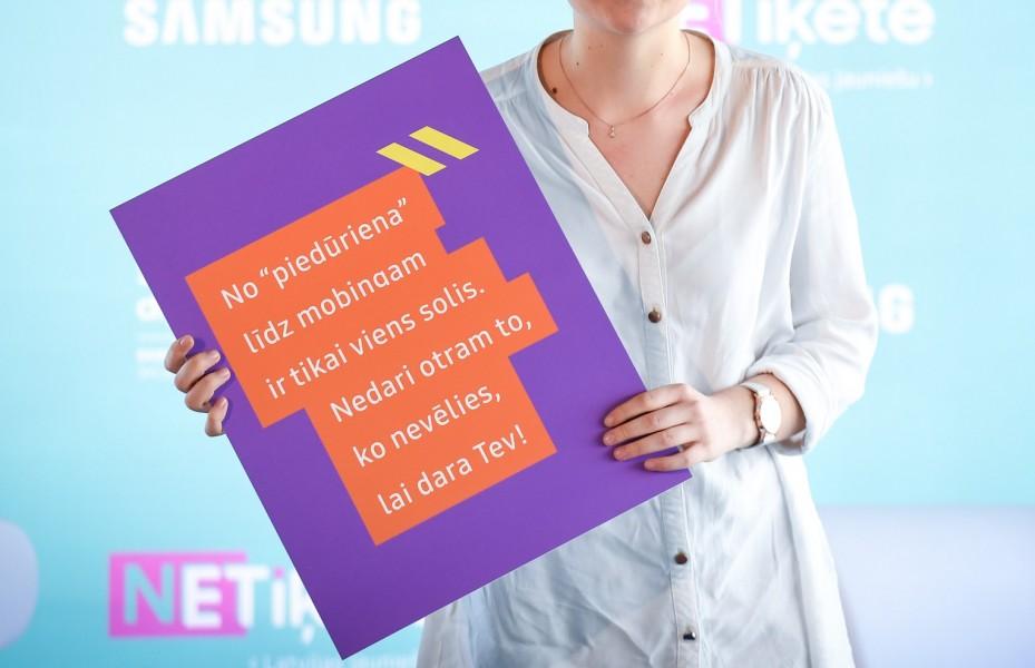 Latvijas jauniešu netiķete aicina skolēnus domāt, pirms rīkoties